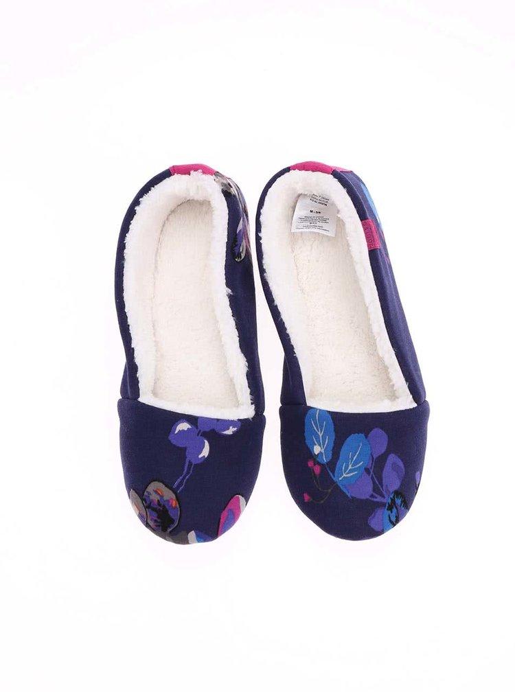 Tmavomodré papuče s kvetmi Tom Joule Dreama