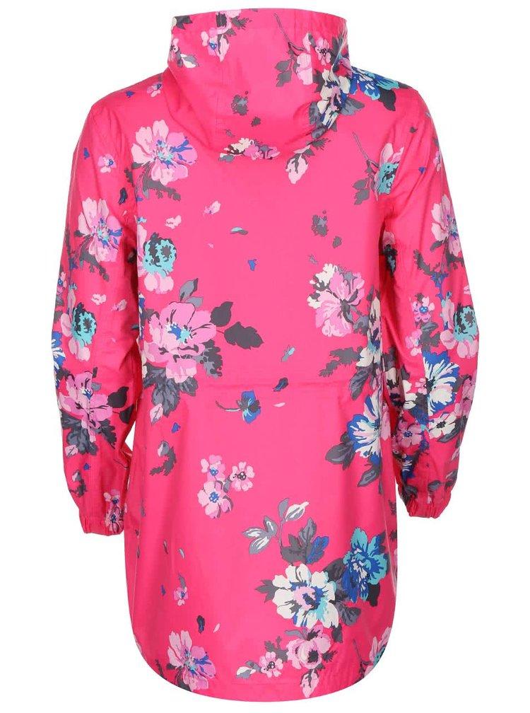 Růžová dámská nepromokavá parka s květy Tom Joule Golightly