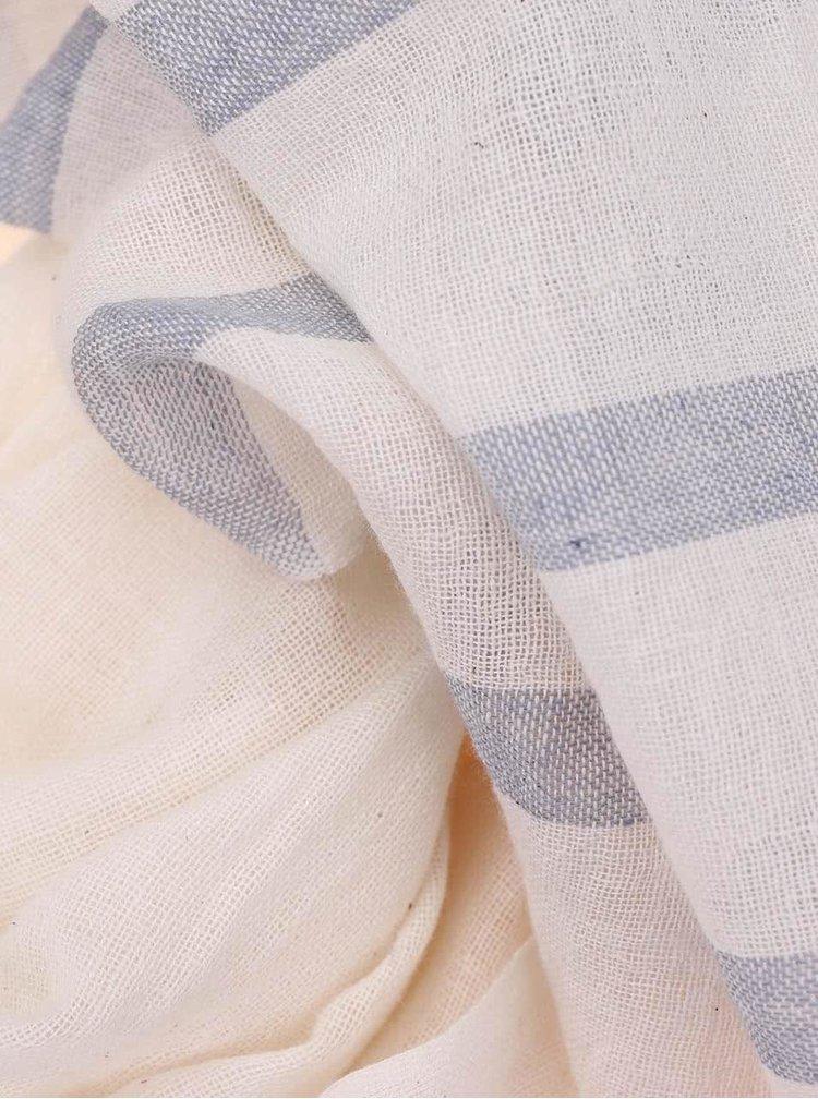 Krémový bavlněný šátek Pieces Natine