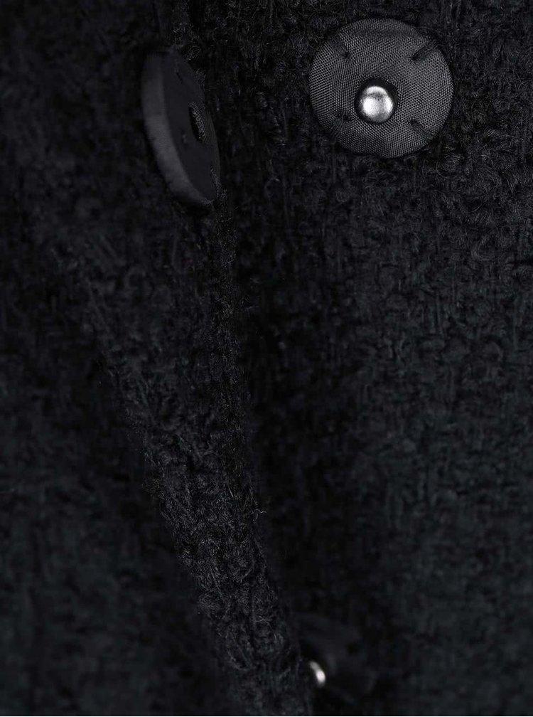 Černý kabát VILA Cama