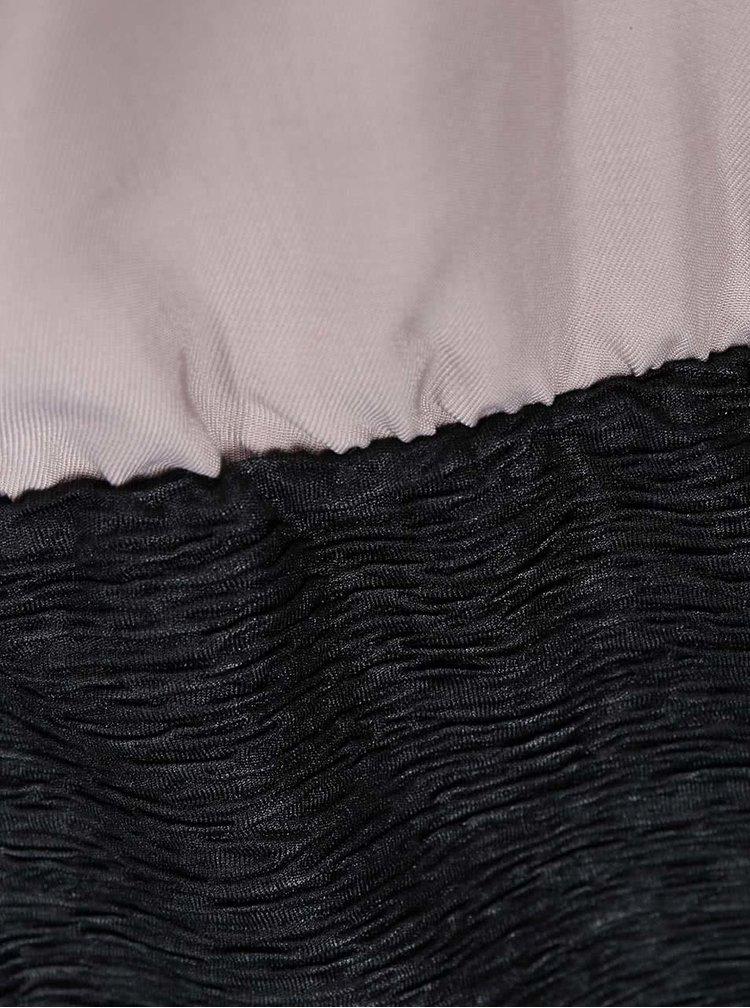 Rochie pe corp negru cu bej VILA Lassie
