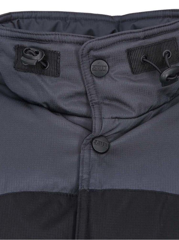 Sivo-čierna zimná bunda D-Struct Gorm