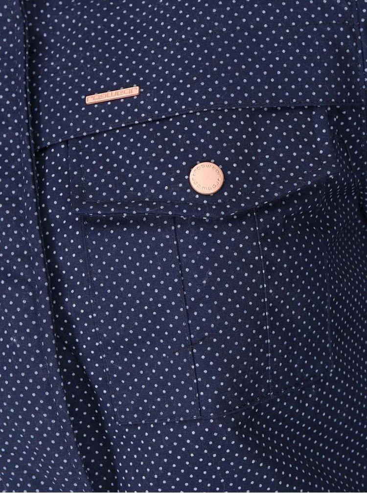 Modrá dámská parka s puntíky Ragwear Laika