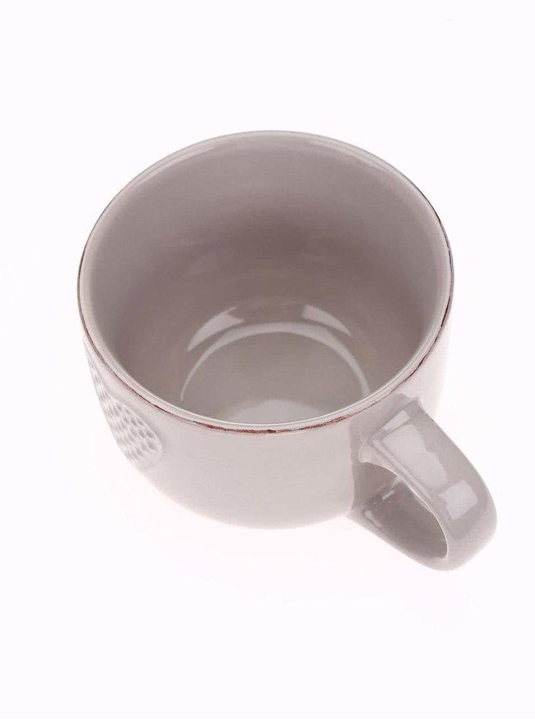 Sivohnedý keramický hrnček so srdiečkom Dakls