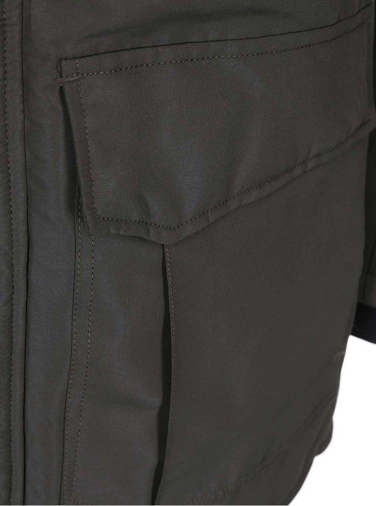 Jacheta cu capison ONLY & SONS - gri-verde