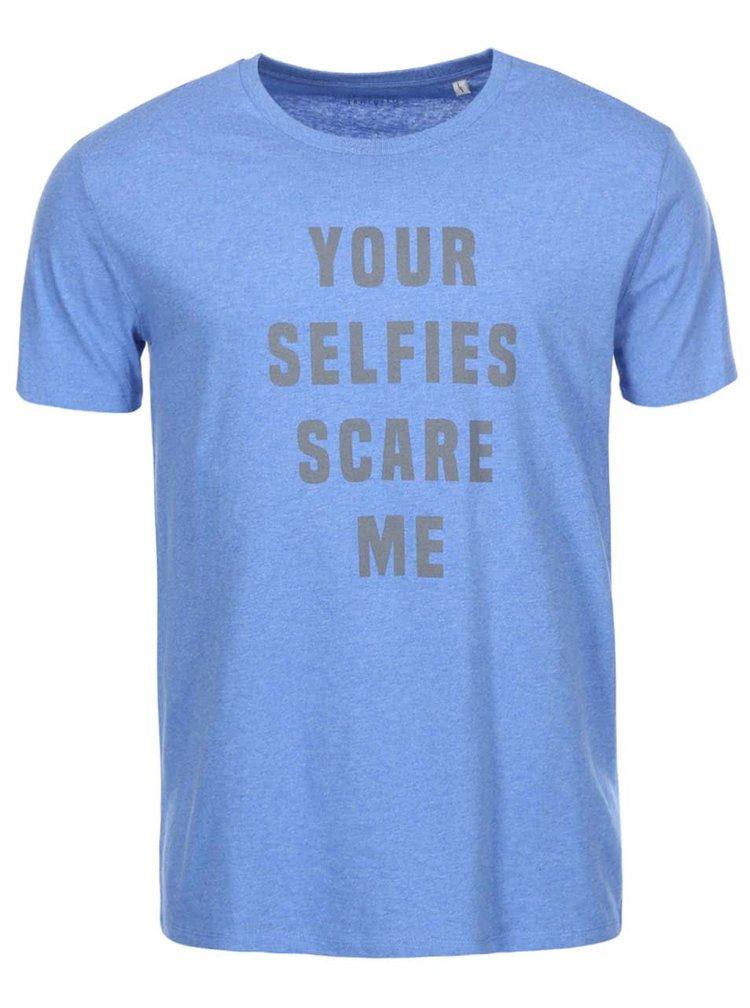 Svetlomodré pánske tričko ZOOT Originál Your Selfies
