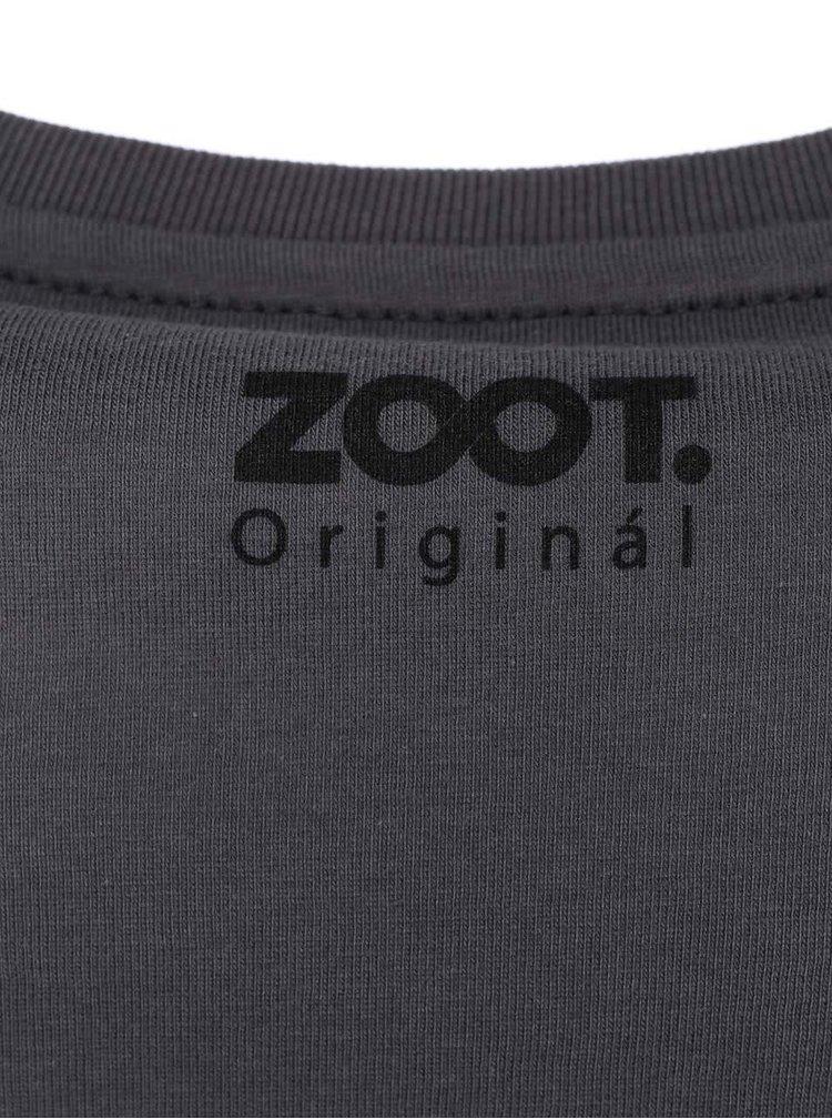 Šedé pánské triko ZOOT Originál Stop Go
