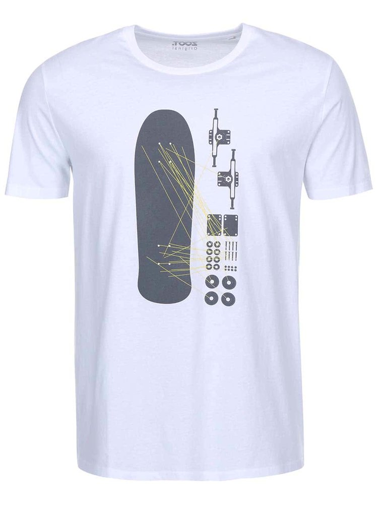 Bílé pánské triko ZOOT Originál Skateboard
