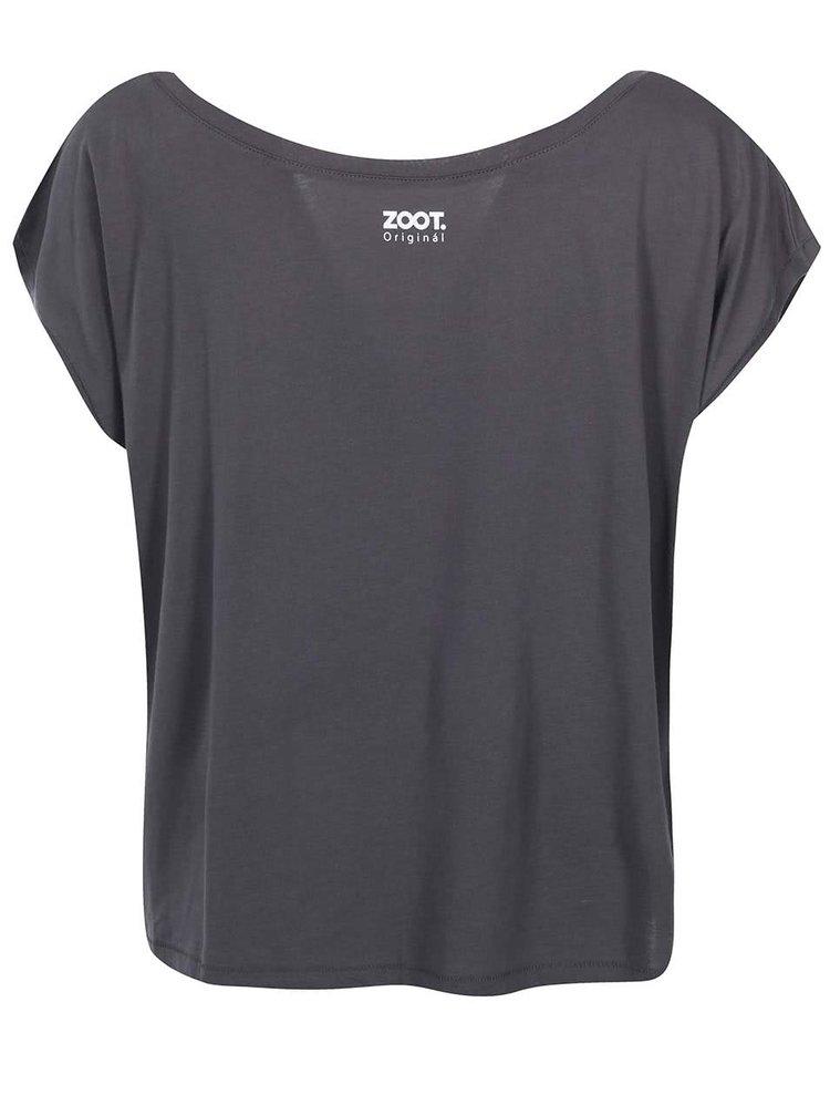Sivé dámske voľnejšie tričko ZOOT Originál Normal Is Boring
