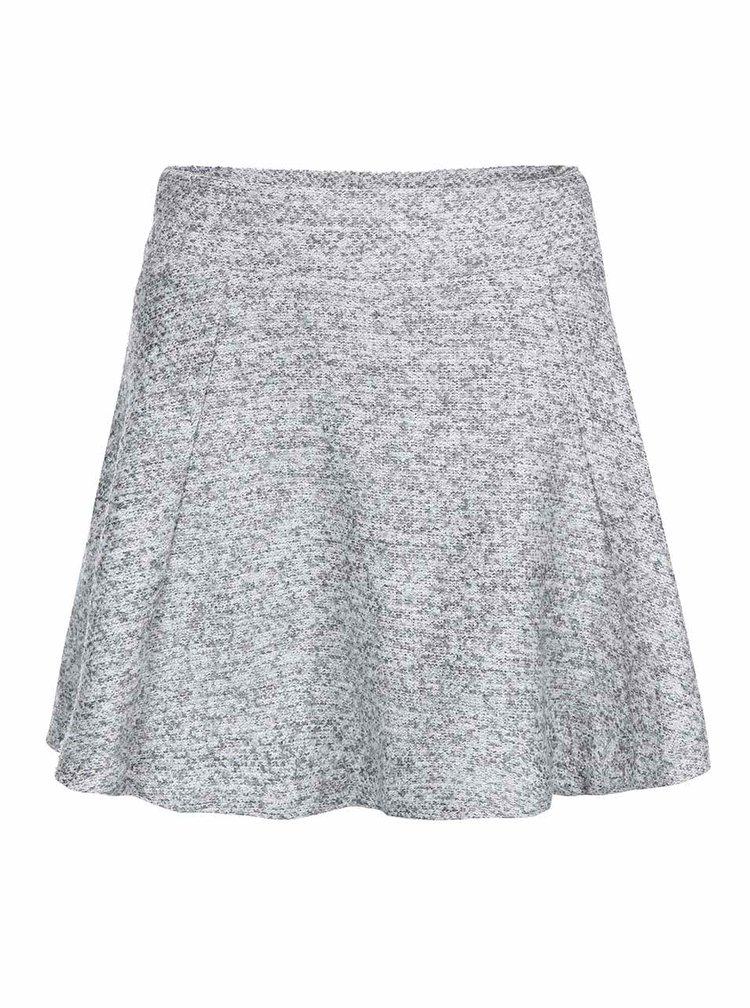 Svetlosivá áčková sukňa ONLY Burcle