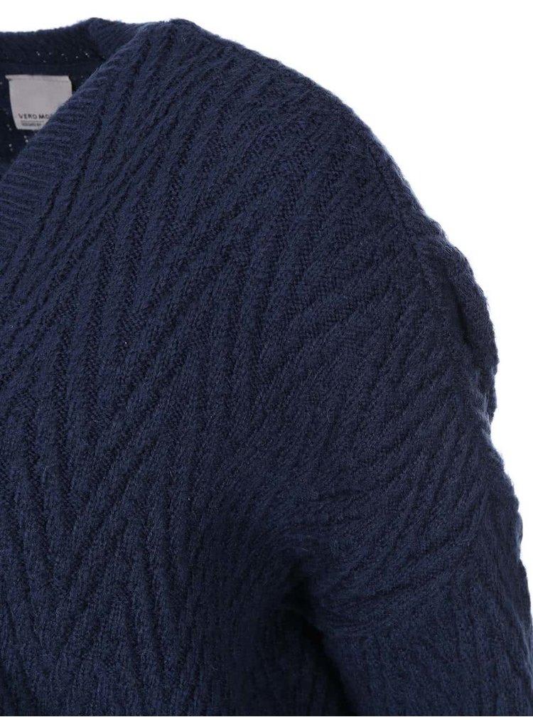 Tmavě modrý cardigan VERO MODA Posh