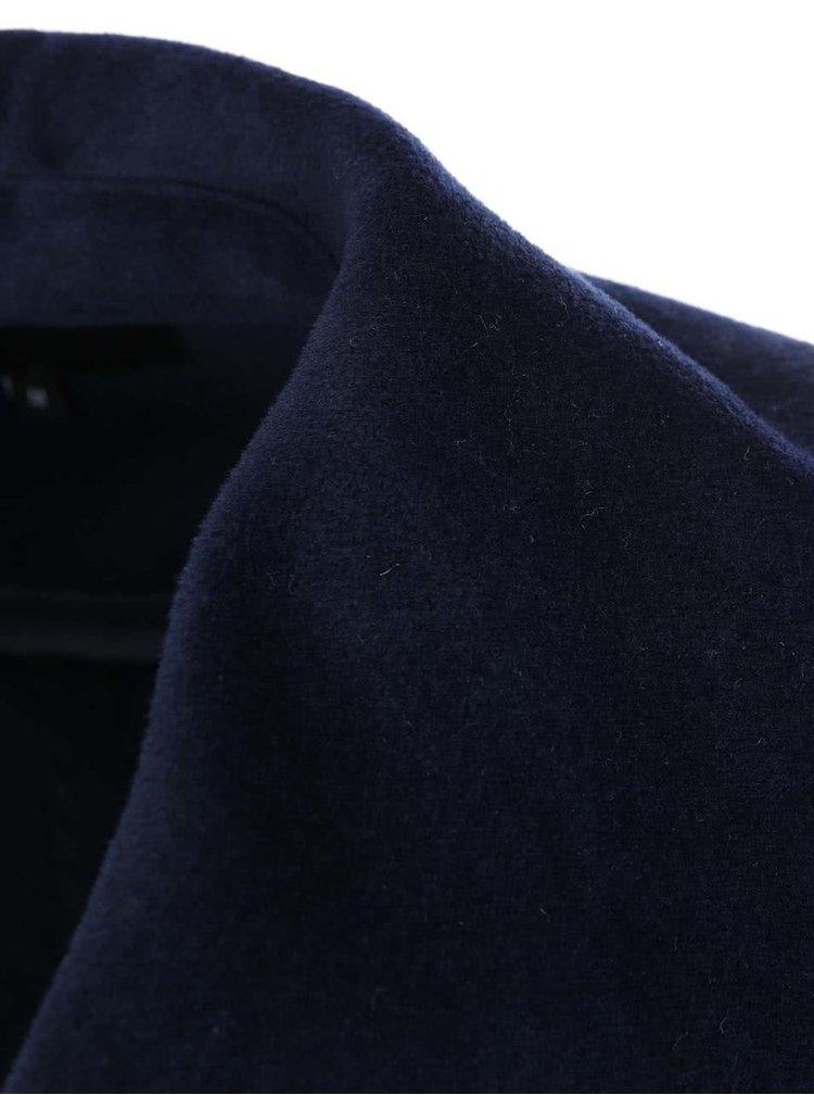 Tmavě modrý kabát se širokým límcem Lavand