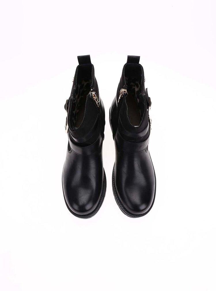 Čierne členkové topánky s prackami Xti