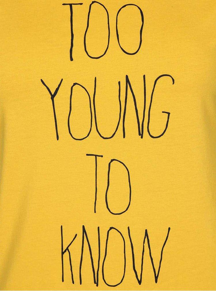 Žlté dámske tričko ZOOT Originál Too Young To Know