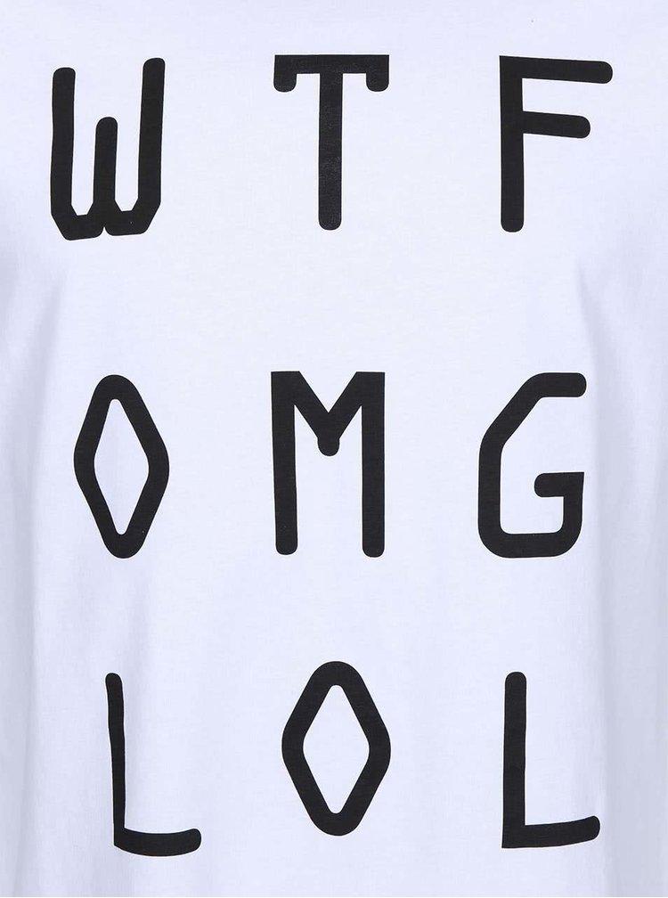Biele pánske tričko ZOOT Originál WTF OMG LOL