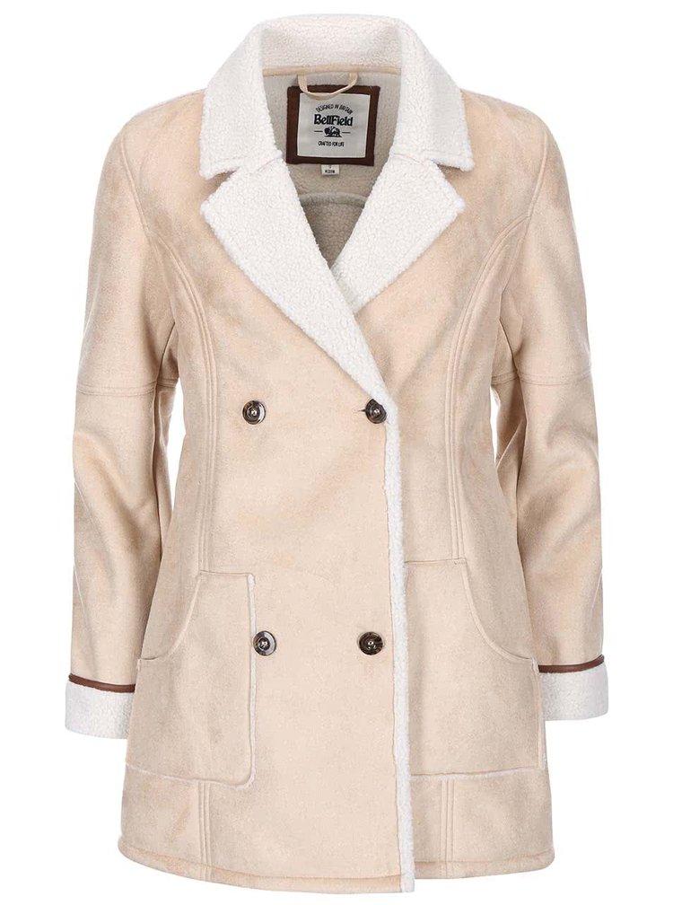 Krémový dámsky kabát Bellfield Shepton