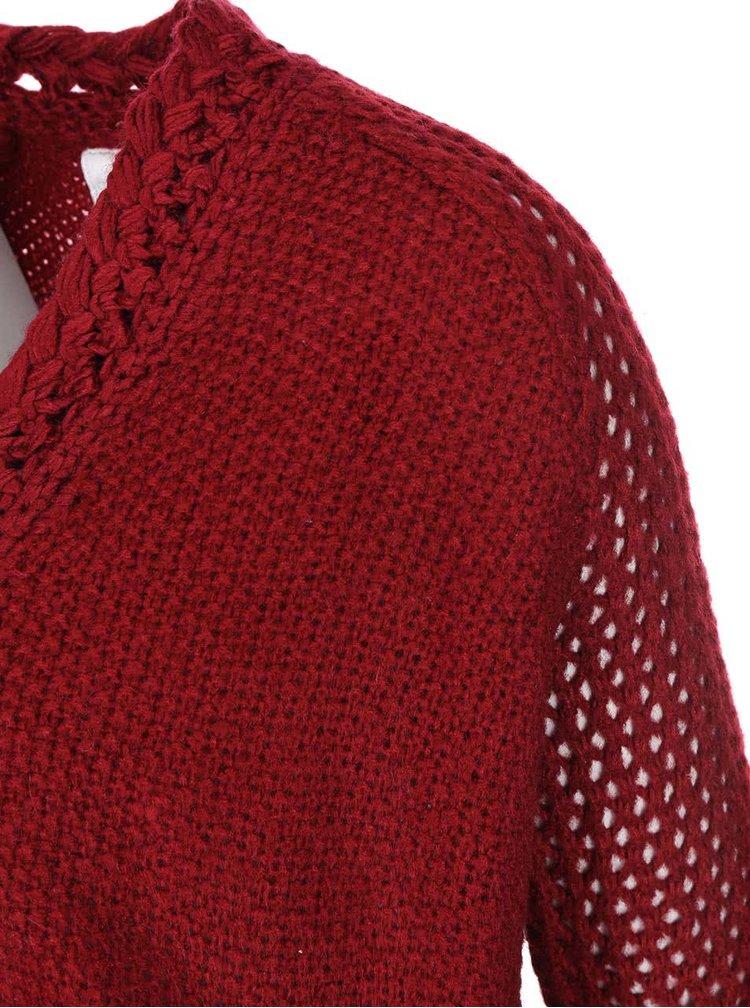 Cardigan vișiniu tricotat Bellfield Bury