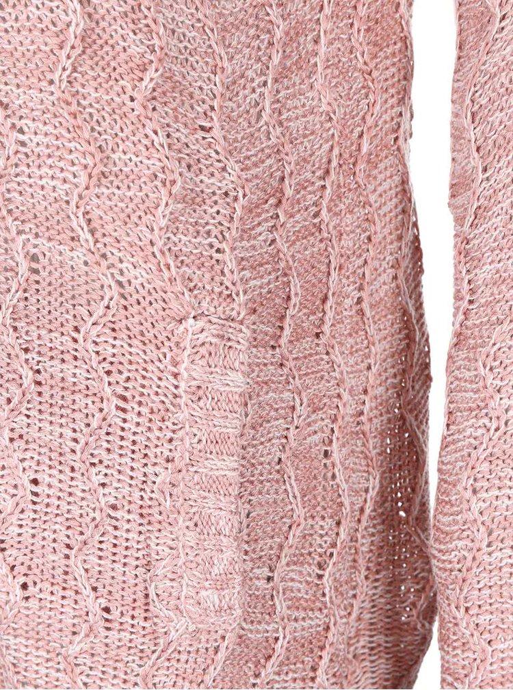 Růžový volnější dámský kadrigan Bellfield Lydney