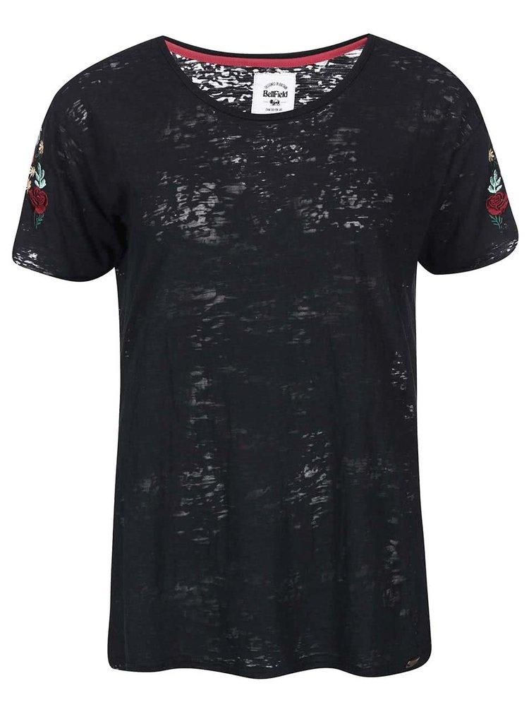 Tricou de damă cu flori Bellfield Brierley - negru