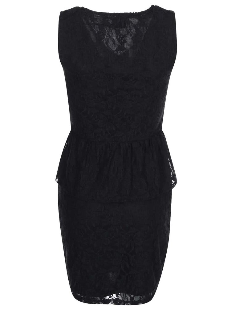 Černé krajkované šaty VILA Gabyn