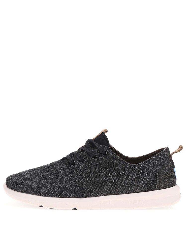 Čierne pánske žíhané tenisky TOMS Viaje Sneaker