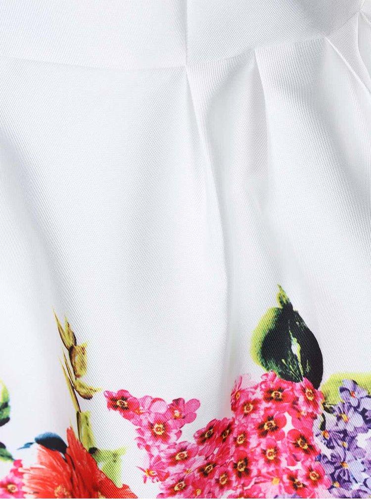 Krémové šaty s květinovým potiskem AX Paris