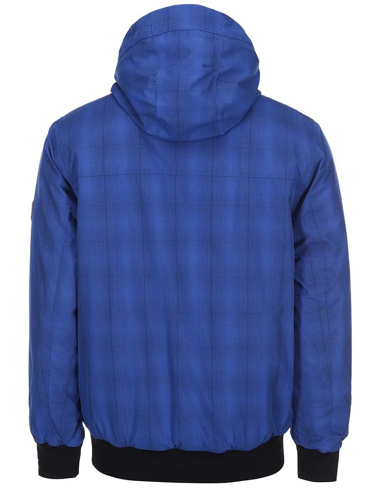 Modrá pánska bunda s kapucňou a čiernymi detailmi Rip Curl