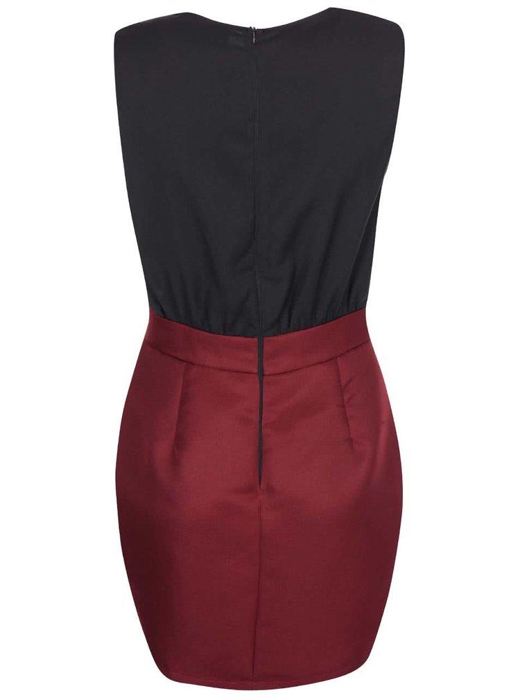 Černo-vínové šaty AX Paris