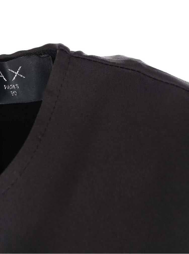 Rochie neagră cu fustă gri petrol de la AX Paris