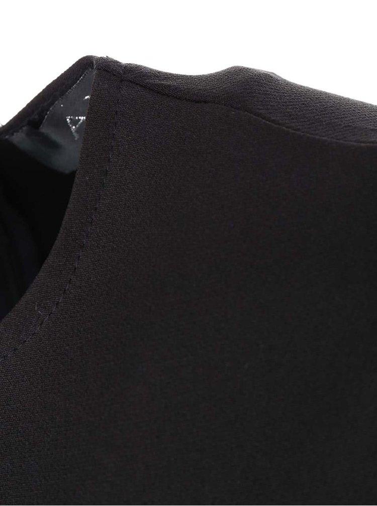 Čierne šaty so vzorovanou sukňou AX Paris