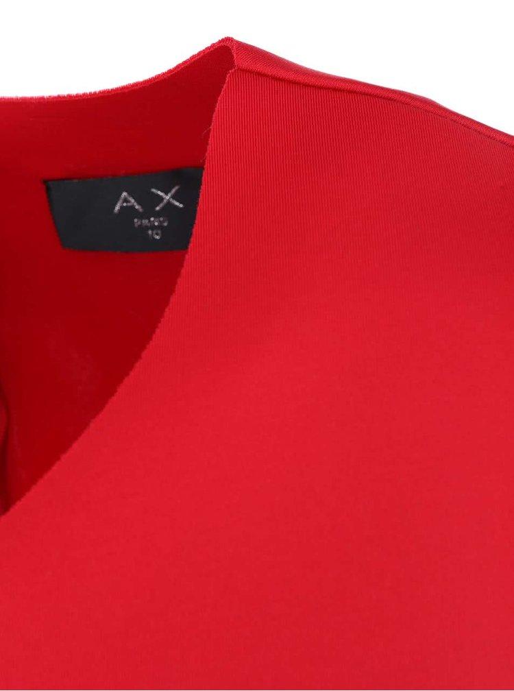 Rochie rosie cu fermoar de la AX Paris