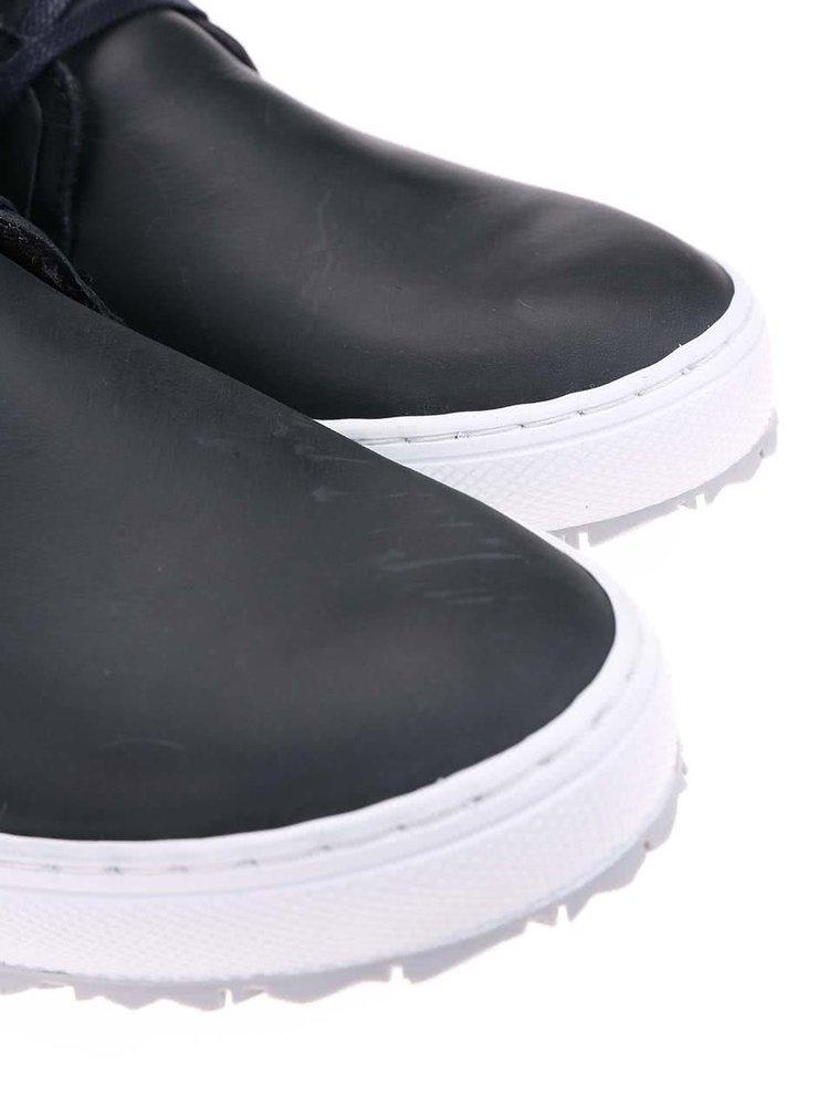 Pantofi sport barbatesti inalti pana la glezna, din piele, cu talpa alba, de la Bullboxer - bleumarin