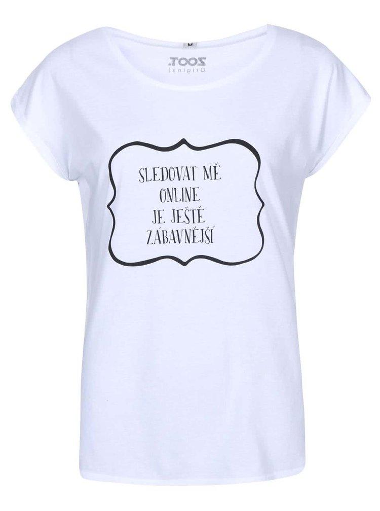 Bílé dámské tričko MICHELLE LOSEKOOT Sledovat mě online