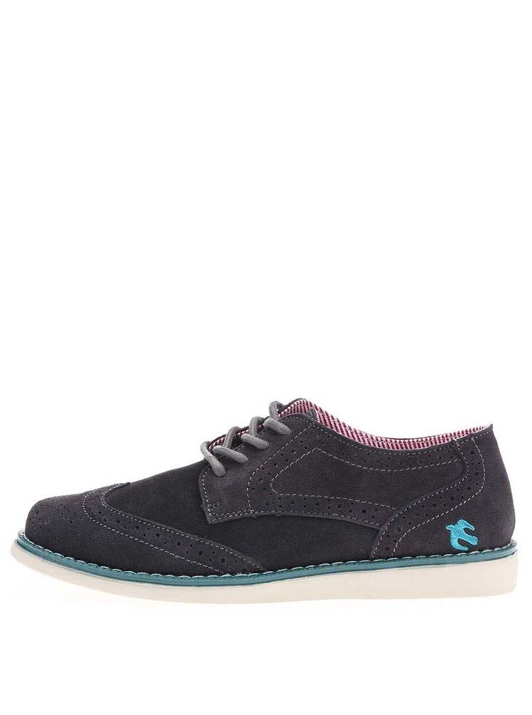 Pantofi Oxford de damă, gri, din piele, de la Brakeburn Milly Brogue