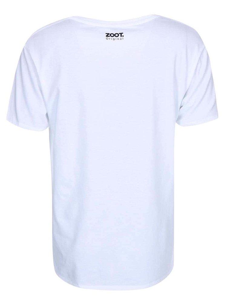 Bílé unisex tričko KUBA FERANEC Plakát