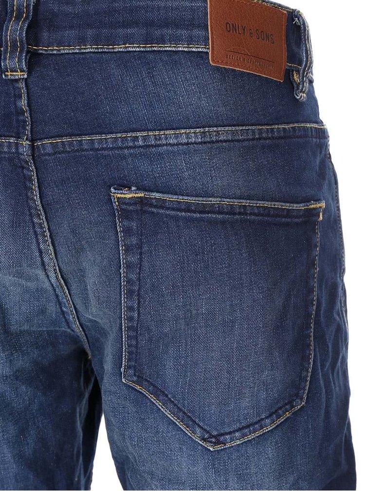 Modré džíny s knoflíky v bronzové barvě ONLY & SONS Loom