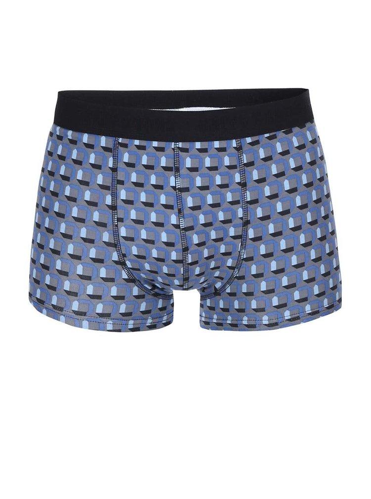 Boxeri Sergio cu model in combinatia gri si albastru de la ONLY & SONS