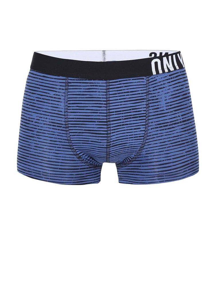 Boxeri cu dungi negre si albastre de la ONLY & SONS Sid