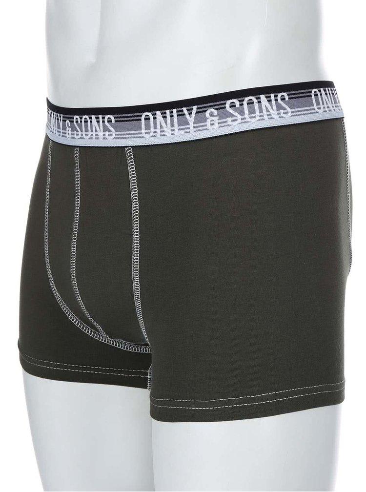 Tmavozelené boxerky ONLY & SONS Simon