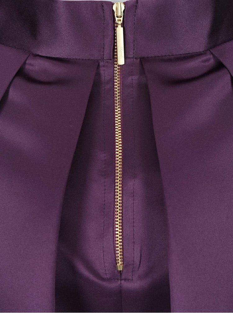 Fialová lesklá sukně s kapsami Closet