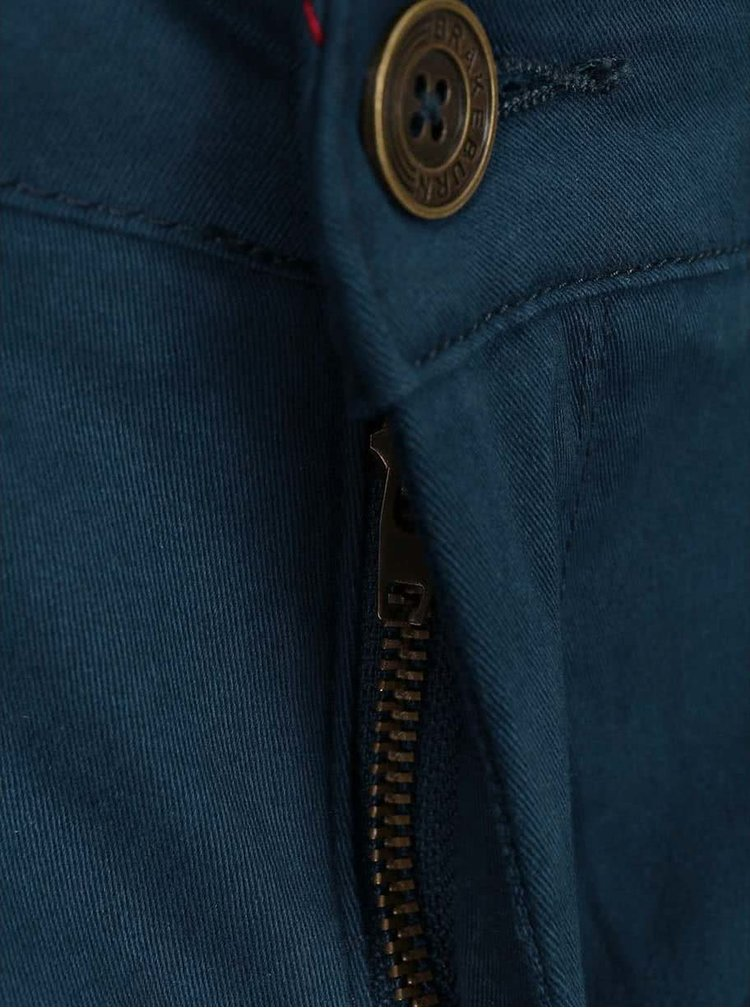 Tmavomodré dámske chino nohavice Brakeburn Zip Hem