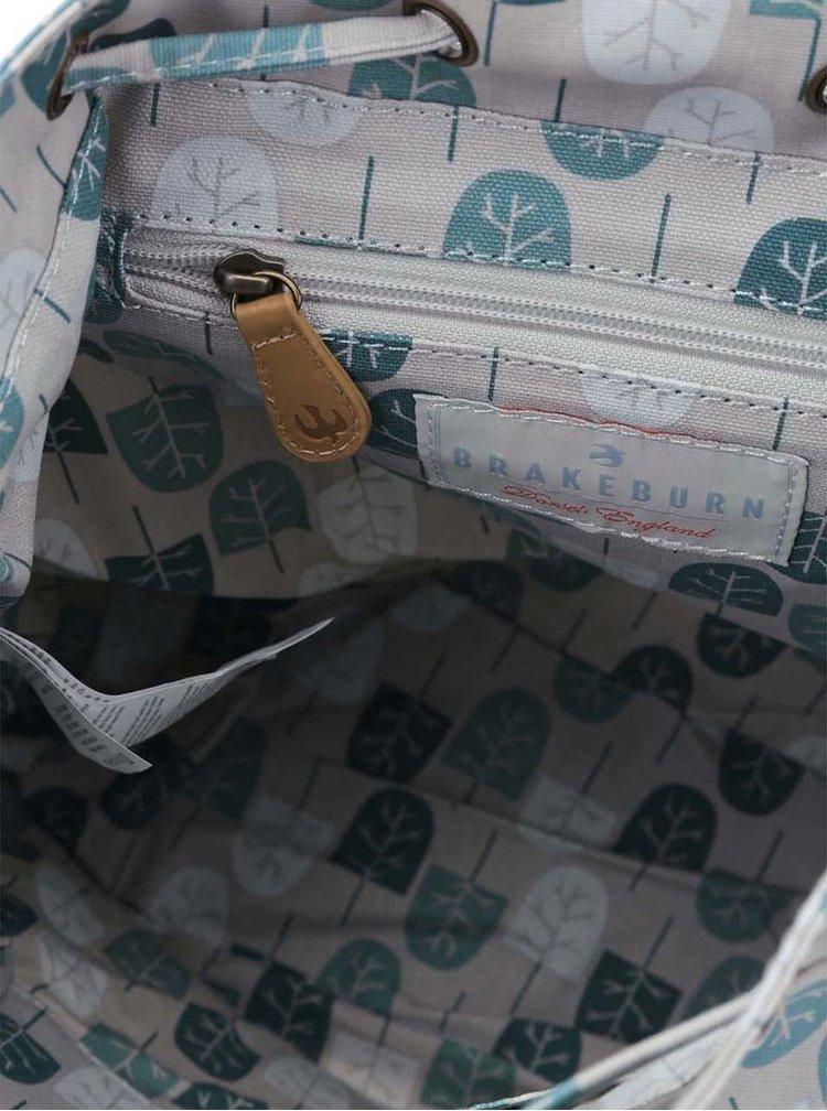 Šedý batoh s potiskem stromků Brakeburn Abstract Trees