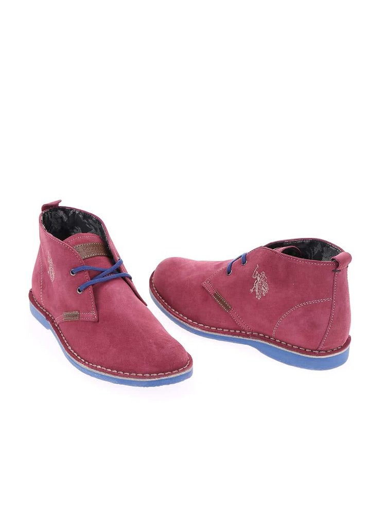 Ružové dámske kožené topánky U.S. Polo Assn. Glenda4