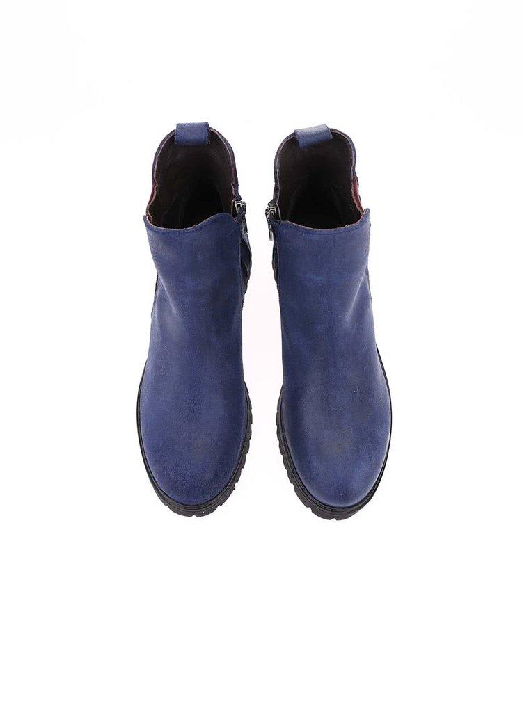 Tmavě modré dámské kožené boty U.S. Polo Assn. Manon