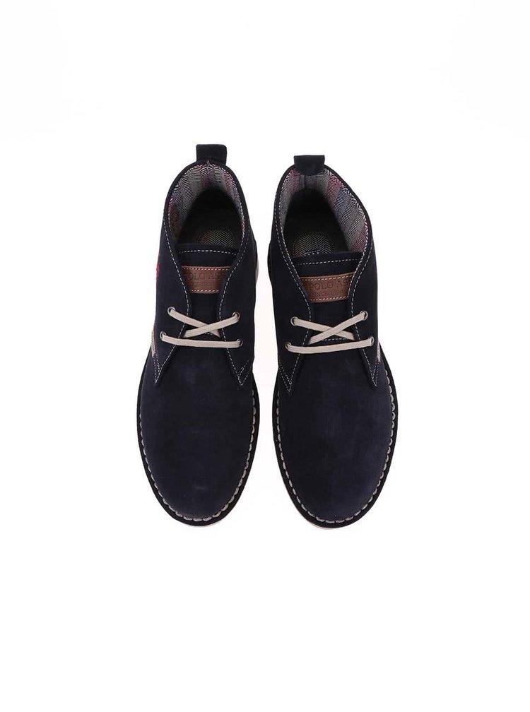 U.S. Polo Assn. Pantofi de damă din piele până la gleznă Glenda3 - bleumarin