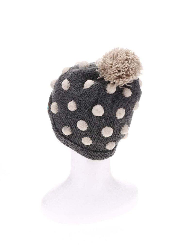 Caciula gri din lana cu buline - Tranquillo Satu