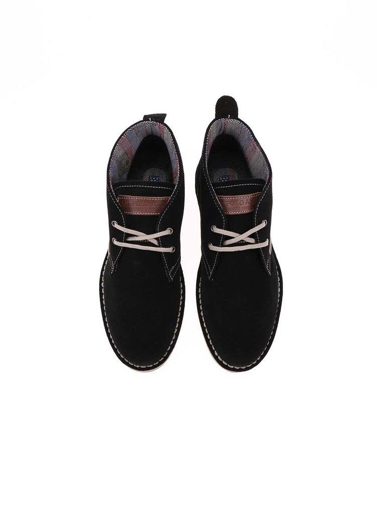 Čierne dámske kožené topánky U.S. Polo Assn. Glenda3