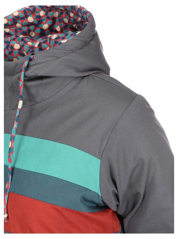 Sivá bunda s farebnými pruhmi Tranquillo Heidewitzka