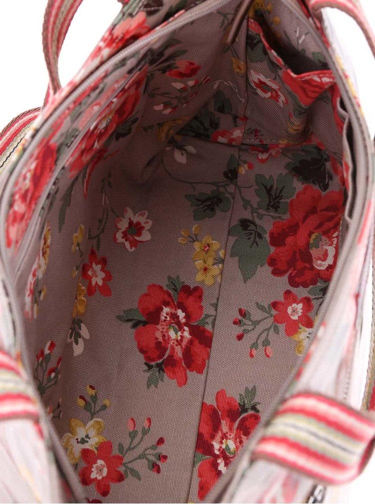 Svetlohnedá kvetinová taška cez rameno Cath Kidston