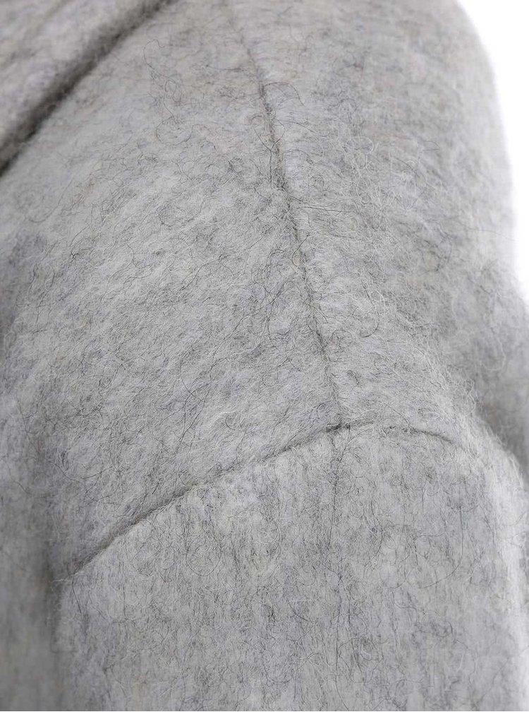 Svetlosivý melírovaný kabát Desires Reese